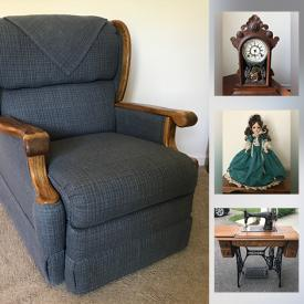 MaxSold Auction: This online auction features Motorized Lift Chair, Broyhill Furniture, Antique Student Desk, Lady Anne Birthday Dolls, Antique Vases Hand Tools, Huffy Touriste Bicycle, Vintage Sewing Machines, and much more!!