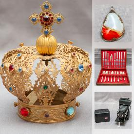 MaxSold Auction: This online auction features Watches, Jade Jewelry, Inuit Artwork, Flatware, Art Pottery, Wooden Sculptures, Stamps, Enamel Cast Iron Casseroles, Coins, Art Glass, Fishing Equipment, Teak Furniture and much more!