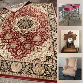 MaxSold Auction: This online auction features furniture such as wicker chairs, wicker loveseat and table, dresser, nightstands, Drexel dresser, vintage washstand, chairs, couch, La-Z-Boy rocking chair, desk and more, lamps, rugs, Norman Rockwell collectible plates, Royal Doulton, air conditioner, sports items, TV, decor, kitchenware, vintage oil lamps, crystal glasses, paintings, prints, costume jewelry, vintage Pyrex, Wedgwood, seasonal decor, milk cans and much more!
