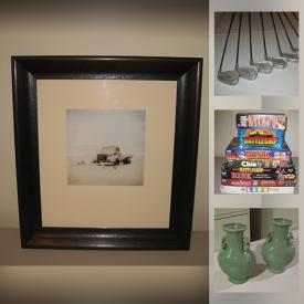 MaxSold Auction: This online auction features Faux Plants, Andrew Sovjani Framed Artwork, Roger Broders Print, Sewing Baskets & Notions, Board Games, Wine Accessories, Decanters, Throw Pillows, Sports Equipment, Area Rug and much more!