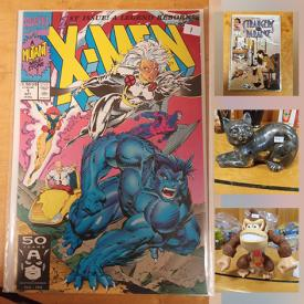 MaxSold Auction: This online auction features Vintage Comics such as Xmen, Spiderman, Dv8, Gen 13, Punisher, Hulk, Glory, Excalibur, Thunder Strike, Xforce, and Vintage Ghostbusters Figures, Comic Book Action Figures, Vintage Toys, NIP Vintage Pez and much more!