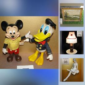 MaxSold Auction: This online auction features Art Glass, Salt & Pepper Shakers, Vintage Star Wars, First Nations Carving, Novelty Teapot, Jade Carvings, Push Mower, Porcelain Dolls, Vintage Royal Piano Harp, Vintage Toys, Art Pottery, MCM Lighting and much more!