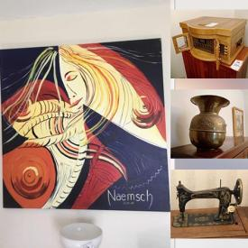 MaxSold Auction: This online auction features Treadle Sewing Machine, Outwear, Encaustic Beeswax Paintings, Vintage Toy, Toby Jug, Wooden Lounger, Persian Rug, Wine Cooler, Grand Masters Etchings & Prints, Original Art, Massaging Recliner, Sitar, Patio Furniture, Hand Tools and much more!