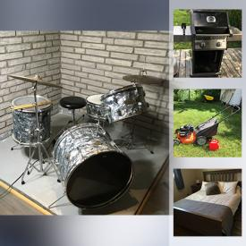 MaxSold Auction: This online auction features Canoe, Ikea Hemnes Furniture, Small Kitchen Appliances, Ethan Allen Furniture, Leather Couch, Outdoor Furniture, Drum Kit, TV, Camping Gear, Area Rugs, Hand Tools, and much more!