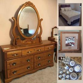 MaxSold Auction: This online auction features fine china, crystal ware, silver plate, Coca-Cola collectibles, furniture such as antique rocking chair, oak dressers, queen-size bed, and rolltop desk, framed art, glassware, small kitchen appliances, board games, holiday decor, books and much more!