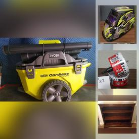 MaxSold Auction: This online auction features Hand Tools, Power Tools, Electrical Supplies, Towing Items, Batteries, Welding Supplies, Drill Bits, Waze Cam, Air Compressor, Shop-Vac, Gardening Tools and much more.