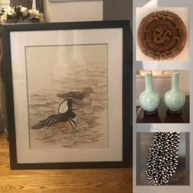 MaxSold Auction: This online auction features Vintage Chinese Celadon Vases, Vintage Japanese Vase, Art Glass, Vintage Necklaces Pearl Necklaces, Art Pottery, Jade Pendants, Chinese Stone Carvings, and much more!