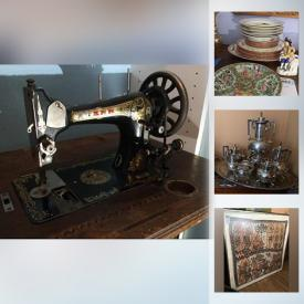 MaxSold Auction: This online auction features a French Church tabernacle door, antique clocks, sterling silverware, Asian-themed jewelry box, cider dispenser, chairs, cushions, sleeper sofa, rugs, Pre-Colombian pottery burial urn, antique Anker sewing machine table, mirror, dinner plates, chairs, silverplate and much more!