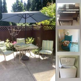 MaxSold Auction: This online auction features Patio Furniture, TV, Dresden Ballerinas, Yamaha Organ, Art Pottery, Office Supplies, Chest Freezer, Small Kitchen Appliances, Women's Outerwear, Golf Clubs, Hedge Trimmer, Power Tools, Vintage Salon Hair Dryer and much more!