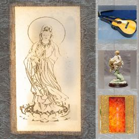 MaxSold Auction: This online auction features Jade Gold Gilt Spinach Panels, Amber Beads, Cloisonné Silver Beads, Emerald Beads, MCM Lighting, Art Glass, Antique Books, Acoustic Guitars, Jade Bangles, Coins and much more!