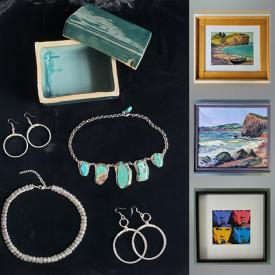 MaxSold Auction: This online auction features Signed Original Art & numbered Prints, Sterling and Gemstone jewelry, Vintage cufflinks, Artists Collections Books, Perfumes, Mobility aids, Cookbooks and much more!