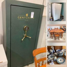 MaxSold Auction: This online auction features Vintage Coffee Table, Decanters, Metal Wall Art, Electric Small Appliances, MCM Furniture, Art Glass, Office Supplies, Craft & Sewing Supplies, Beer Steins, Power Tools, Washer & Dryer, Upright Freezer, Resin Sheds, Garden Tools, Garden Sculptures and much more!