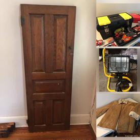 MaxSold Auction: This online auction features Vintage Accordion, Vintage Craft Kits, Toolboxes, Tools, Door Hardware, Halloween costumes, Camping Gear, Window AC, Portable AC, Small Kitchen Appliances, Sewing Machine, Vintage Leather Jacket, Stamps, Fishing Gear, NIB Space Heater and much more!