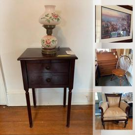 MaxSold Auction: This online auction features metal Soldiers miniatures, furniture such as card file cabinet, wood dresser, side tables, and upholstered chairs, history books, small kitchen appliances, wall art, electric fireplace, lamps and much more!