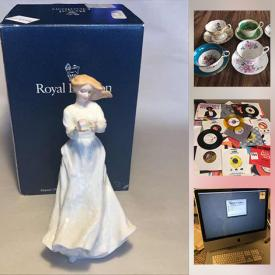 MaxSold Auction: This online auction features Royal Doulton Figurines, Royal Doulton Plates, Swarovski Figurines, Coalport Figurines, Moorcroft Vases, Noritake China, Limoges Plates, Art Glass, Carved Figurine, Collectible Teacups, Jewelry, La-Z-Boy Power Recliner, MCM Armchairs, Vintage Stove, Vintage Refrigerator, Russian Balalaika, Apple Computer, Art Pottery, Power Tools and much more!
