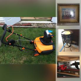 MaxSold Auction: This online auction features collectible dolls, crystal ware, furniture such as coffee table, side tables, 3 seater sofa, and futon, power tools, storage bins, electric snow blower, yard tools, fishing gear, golfing equipment, glassware, lamps, dishware, kitchenware, framed wall art, holiday decor, PS2 console with games, costume jewelry and much more!