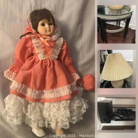 MaxSold Auction: This online auction features TV, Wardrobe Drawers, Wicker Chair, Pendant Light, Cupboard Knobs, Children's Books, Linear Chandelier, Porcelain Dolls, Men's Shirts, Electric Keyboard, California Shutters, Women's Clothing, Costumes and much more!