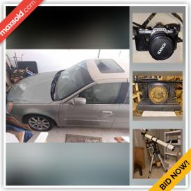 MaxSold Auction: This online auction features 2007 Cadillac, furniture, Fishing Gear, Telescope, Shop-Vac, Sectional Sofa, Collector Plates, Grandfather Clock, Costume Jewelry, Area Rug, Lladro Figurines, Printers, Yard Decor, Area Rug, Yamaha Organ, TV, Small Kitchen Appliances and much more!