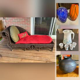 MaxSold Auction: This online auction features Vintage Tins, Glass Lamps, Egg Cup collection, Quilts, Wooden Decoys, Wade Figurines, Craft & Sewing Supplies, Jewelry, Exercise Equipment, LPs, Printer and much more!