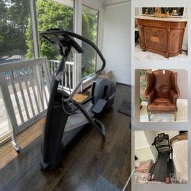 MaxSold Auction: This online auction features Mirrored Night Stands, Small Kitchen Appliances, Cranberry Glass, Baghera Metal Car, Exercise Equipment, Patio Furniture Set, Car Toddlers' Beds, Fireplace Frame, Drum, Men's Clothing, Triple Dresser, TV and much more!