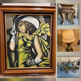 MaxSold Auction: This online auction features Antique Runner, Amethyst & Malachite Beads, Art Glass, Vintage Apple Decanter, Craft Supplies, Art Deco Lighting, Antique Floor Lamp, Royalty Collectibles, Art Nouveau Vase, Art Pottery, Watches, Stained Glass Panel and much more!