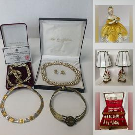 MaxSold Auction: This online auction features Birks Sterling flatware, Steamer trunks, Barrister bookcase, Dollhouse model Kit, Miniatures, Antique & Vintage Solid Wood Furniture including Reitzels Oak, and Vilas maple, Jewelry including Swarovski, Signed Sherman, Gold & Sterling, Lladro & Royal Doulton figures, Bulova Mantel clock, Art glass, Sports memorabilia, Watches Wine Fridge, Hudson Bay blanket and much more!