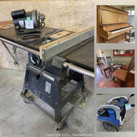 MaxSold Auction: This online auction features Depression Glass, Carnival Glass, Collectible Teapots, Board Games, Small Kitchen Appliances, Vintage Hand Tools, Vintage Oil Cans, Antique Stoves, Antique Bobsleigh, Pipe Clamps, Refrigerator, Antique Upright Piano, Antique Bridge Lamps, Forge and much more!