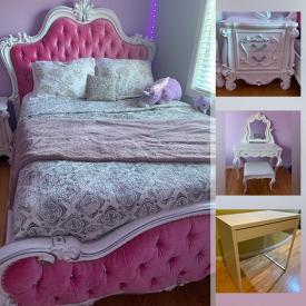 MaxSold Auction: This online business downsizing auction features matching Bedroom Furniture set, Bed, Dresser, & Vanity coordinates!