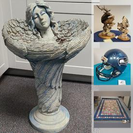 MaxSold Auction: This online auction features Art Supplies, Yard Art, Area Rugs, Statues, Art Glass, Men's Clothing & Shoes, Shop-Vac, Vintage Toys, Jim Shore Rabbit, Seattle Mariners Memorabilia, Jewelry, Games & Puzzles, Duck Decoys, Children's Books, Movie Posters, Stained Glass Lamp and much more!