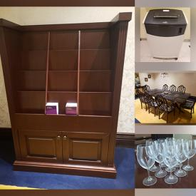 MaxSold Auction: This online auction features Magazine/Brochure Display Cases, Office Furniture, Cutlery, Computer Chairs, Dining Room Furniture, Banker's Lamps, Refrigerator, Wine Fridge, Small Kitchen Appliances, Law/Decorative Books and much more!