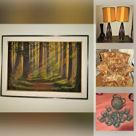 MaxSold Auction: This online auction features Vintage Metal Art Sculpture, Antique Mantel Clock, MCM Lighting, Handmade Folkart Canes, Maple Furniture, Collectible Teacups, Antique Bowfront Sideboard, Indigenous Art, LPs, Vintage & Silver Jewelry, Gas BBq, Upright Piano, Thimbles and much more!