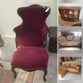 MaxSold Auction: This online auction features furniture such as curio cabinets, marble top coffee table, Bassett buffet, dining table and chairs, sofa with ottoman, dressers and much more!
