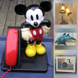 MaxSold Auction: This online auction features Art Deco Radio, Japanese Satsuma, Art Nouveau Style Table Lamp, Vintage Mickey Mouse Phone, Collectible Teacups, Ginger Bread Mantle Clock, Art Glass, Art Pottery, Carved Wood, Guitar, Carnival Glass, Vintage Brass Figures, Framed Wall Art and much more!