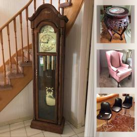 MaxSold Auction: This online auction features Hentschel Grandfather Clock, Garden Tools, Area Rugs, Ceramics Statue, Live Plants, Sewing Machine, Portable Electric Fireplace, Metal Bed, Art Glass, Bar Stools and much more!