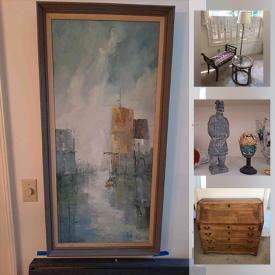 MaxSold Auction: This online auction features Original Art by Jean Khanbegian, Furniture, Pottery, Southwest Decor, Vinyl Records, Vintage Furniture, Costume Jewelry, Sterling Silver Jewelry, Sewing Machine, Patio Furniture, Gardening supplies and much more.