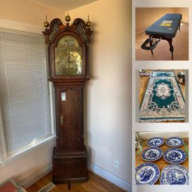 MaxSold Auction: This online auction features Wedgwood, Lladro, crystal ware, C. Bechstein piano, furniture such as wooden dressers, metal bed frame, settee, massage table, and La-Z-Boy recliners, lamps, area rugs, framed wall art, kitchenware, collector coins, dishware, glassware, ceramics, books, sheet music, grandfather clock, shelving units, CDs, DVDs, Sony receiver and much more!