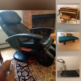 MaxSold Auction: This online auction features Entertainments centers, Stereo Equipment & Components, Computer Equipment and Components, Tablets, Home Electronics & Tech Gadgets, Board games, Copper kitchenware, Small Kitchen Appliances, Food prep, & gadgets, Sporting goods & gear, Bike, rugs, Sewing Machines & notions, Pool table, Fitness Equipment & Sporting Goods, Office Furniture, Equipment & supplies, Workshop Power Tools & Equipment, Hand Tools & Hardware, Homecare & Cleaning supplies, Home Repair & Improvement Equipment and Supplies, Scrap wood, Auto care, Beach gear, Charcoal grill and much more!