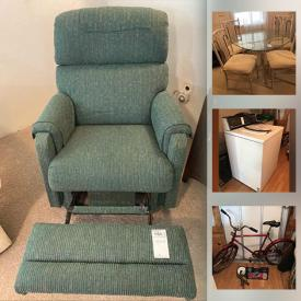 MaxSold Auction: This online auction features furniture such as outdoor table with chairs, television cabinet, a recliner, sofa bed, and vintage side table, vacuum cleaners, lamps, DVD player, DVDs, books, wall art, cookware, small kitchen appliances, dishware, stoneware and much more!