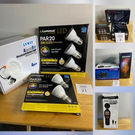 MaxSold Auction: This online auction features New in Open Box Items such as Humidifiers, Wireless Headsets, Fog Machine, Robot Vacuum, Disco Lights, Karaoke Microphone, Men's Grooming Kit, Ring Light Set, Dethatcher and much more!