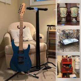 MaxSold Auction: This online auction features Outer Wear, Small Kitchen Appliances, Art Glass, Mantle Clocks, Asian Enamel & Metal Urns, Sports Equipment, Craftsman Tool Chest & Tools, Office Supplies, Men's & Women's Clothing, Electric Guitar and much more!