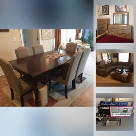 MaxSold Auction: This online auction features furniture such as a sectional, swivel chairs, end tables, side tables, dressers, electric piano and stand, small granite 3 drawer dresser and much more!