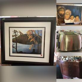 MaxSold Auction: This online auction features  silver plate, furniture such as caned chairs, antique blanket chest, teak table, and wardrobe, cameras, ceramics, copperware, Yamaha keyboard, books, framed wall art, dishware, small kitchen appliances, area rugs, Masi bike and much more!