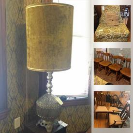 MaxSold Auction: This online auction features Swivel Chair, Table Lamps, Sofa, Vintage Wall Clock, Animal Figurines, Books, Bar Cart, Sewing Machine, Toys, Games, Women's Shoes & Boots, Rugs and much more!
