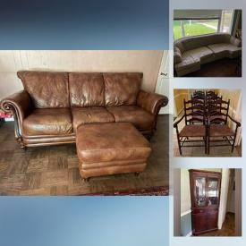 MaxSold Auction: This online auction features Leather furniture, Corner cabinets, a China hutch, Dining room furniture, Desk and more!
