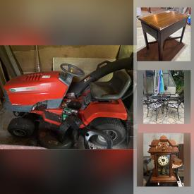 MaxSold Auction: This online auction features electronics such as Magnavox, Sony, Carrera, Bose, Harman Kardon, and Denon, patio furniture such as loveseats, sofa, tables, patio umbrella, ottoman, and chairs, lawn care equipment such as John Deere riding lawn mower, snow blower, and Toro push mower, home furniture such as chairs, bed frames, vintage bench, Coca-Cola cooler, and barstools, power tools such as DeWalt, Ryobi, Craftsman, Black & Decker, Skilsaw, Dremel, Makita, and Shop-Vac and much more!