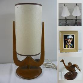 MaxSold Auction: This online auction features vases, lamps, glassware, collectibles, wall art, silver plate, toys, games and much more!