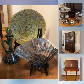 MaxSold Auction: This online auction features Henredon Dining Room Furniture, Weighted Silver, Lenox Serving Ware, Antique Card Table, Lladro Figurines, Decorative Plate and much more!