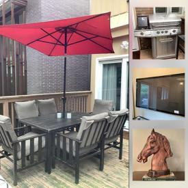 MaxSold Auction: This online auction features Crystal Decanters, Glass Table Desks, Patio Furniture, MCM Leather Sofa, TVs, Audio Equipment, Gas BBQ, Area Rug, Curtains and much more!