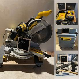 MaxSold Auction: This online auction features Large Power Tools, Hand Held Power Tools, Hand Tools, Ladder Jacks, Tool Boxes & Bags, Nails, Staples, Screws, Drill Bits, Hardware, Painting Supplies, PVC Pipe, Work Lights, Air Hoses, Shop-Vac, Scaffold, Ladders, Compressor, Safety Gear, Garden Tools and much more!