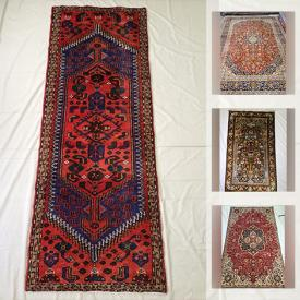 MaxSold Auction: This online auction features Hand-Knotted Wool Persian Rugs from Kashan, Tabriz, Hamedan, Najafabad Isfahan, Saveh, Zanjan and a Hand-Knotted Silk Rug and much more!